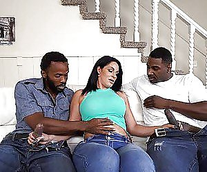 Shemale with big titts gets creampie